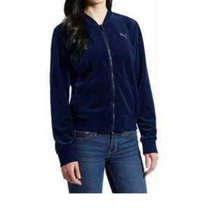 PUMA Velour Velvet Track Jacket Sweatshirt